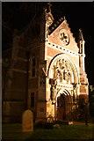 TM3389 : Bungay, St Edmund's Roman Catholic church at night by Glen Denny