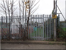 TQ7968 : Gate to Woodlands Road Allotments by David Anstiss