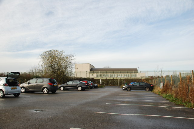 Car Park at Drakes Hall Prison, with Prison in the Background
