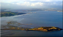 NT1977 : Cramond Island and the Forth bridges from the air by Thomas Nugent
