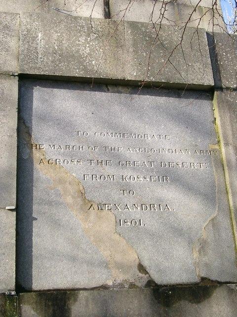 General Sir David Baird's monument