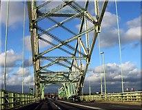 SJ5183 : The Runcorn Bridge to Widnes by Steve Daniels