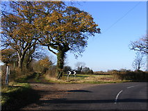 TM2768 : B1118 & the Kings Lane, Bridleway by Adrian Cable