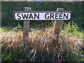 TM2974 : Swan Green Sign by Adrian Cable