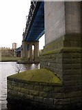 NZ2463 : King Edward VII Bridge from north bank of River Tyne by Andrew Curtis