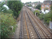 TQ2075 : Railway line between North and South Worple Way by David Howard