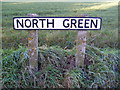 TM2976 : North Green sign by Adrian Cable