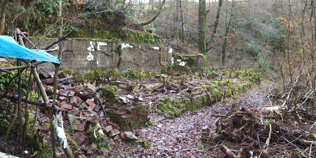 Remains of a turbine house