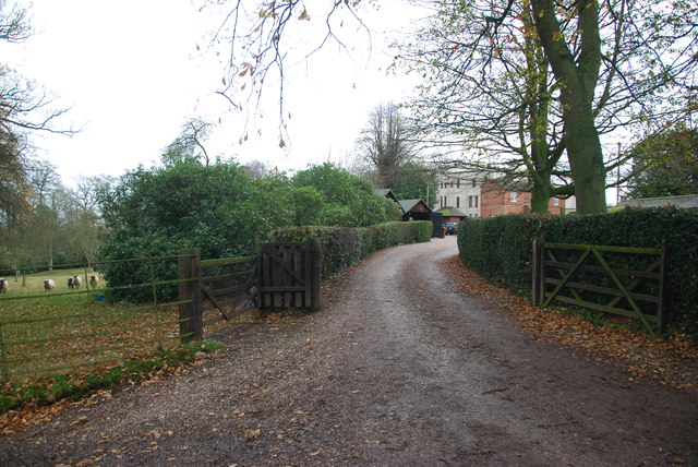 The driveway to Charnes Hall