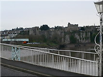 ST5394 : Chepstow Castle from Chepstow Bridge by Eirian Evans