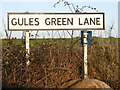 TM2677 : Gules Green Lane sign by Adrian Cable