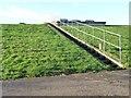 TA0978 : Steps up to Muston service reservoir by Christine Johnstone