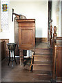 TM1861 : St Andrew's church in Winston - the pulpit by Evelyn Simak