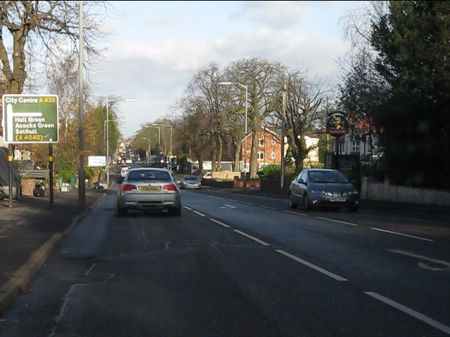 Alcester Road South approaching Wheelers Lane