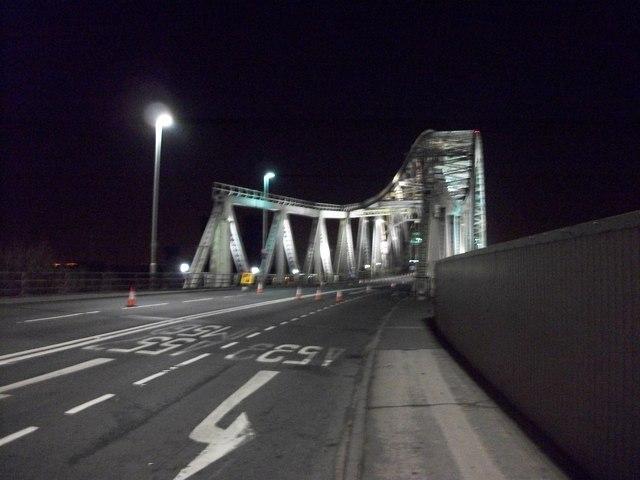 Runcorn Bridge over the River Mersey