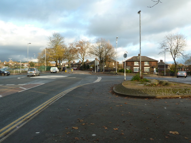 Junction of Broadoak Road and Smallshaw Lane, Hurst