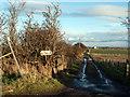 NZ1127 : Farm track with footpath by Trevor Littlewood