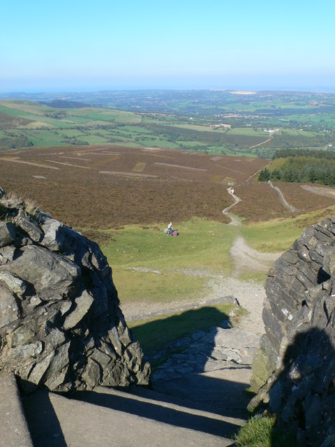 Footpath to Cilcain from Moel Famau