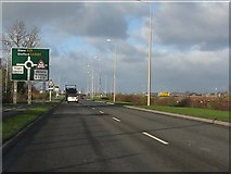SK0418 : Rugeley bypass (A51) approaching Station Road roundabout by Peter Whatley