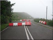 NO8785 : Road closed, Stonehaven by Richard Webb
