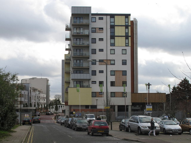 Atlip Road with new flats of Alperton Village