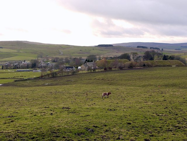 Elsdon from the north-east