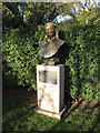 TQ3377 : Chumleigh Gardens: bust of Keib Thomas by Stephen Craven