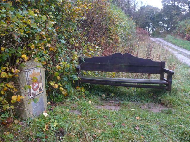 Millennium seat and ceramic - top of Fryton Lane