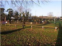 SP0343 : A44 viaduct by Abbey Park, Evesham by Liz Stone