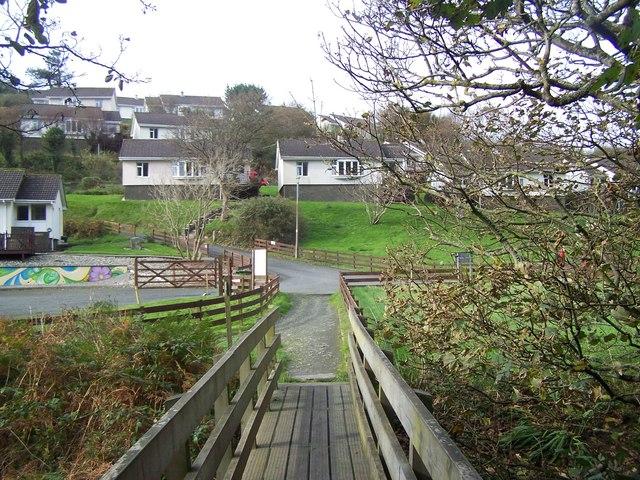 Isle Of Man Coastal Path At Groudle Glen