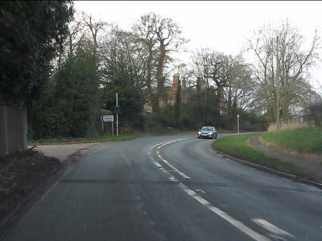 A51 approaching Stapeley House