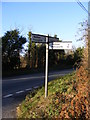 TM2481 : Roadsign at the B1116 Harleston Road crossroads by Adrian Cable