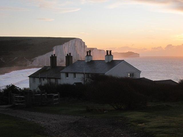 Coastguard Cottages at Sunrise