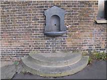TQ3877 : Old drinking fountain in St Alfege Park  by Stephen Craven