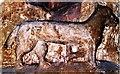 SP3951 : Grotesque capital in All Saints' Church, Burton Dassett by Tiger