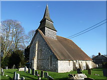 SU5355 : All Saints, Hannington: early December 2011 by Basher Eyre