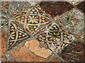 SN7465 : Close up of medieval floor tiles - Strata Florida abbey church by Phil Champion