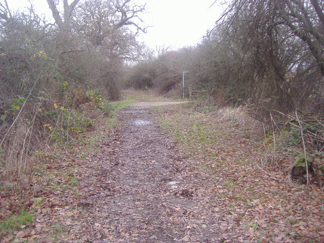 Junction of Arkley Lane and path to Saffron Green