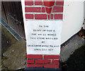 TQ1868 : Foundation Stone, Kingston Spiritualist Church by Des Blenkinsopp