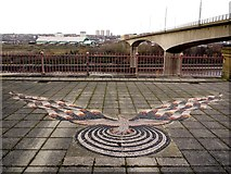 NZ2462 : 'Phoenix', Old Redheugh Bridge abutment by Andrew Curtis