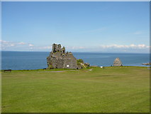 NS2515 : Dunure Castle and the Firth of Clyde by Colin Park