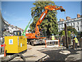 SP3165 : Mobile crane extracts piling by Robin Stott