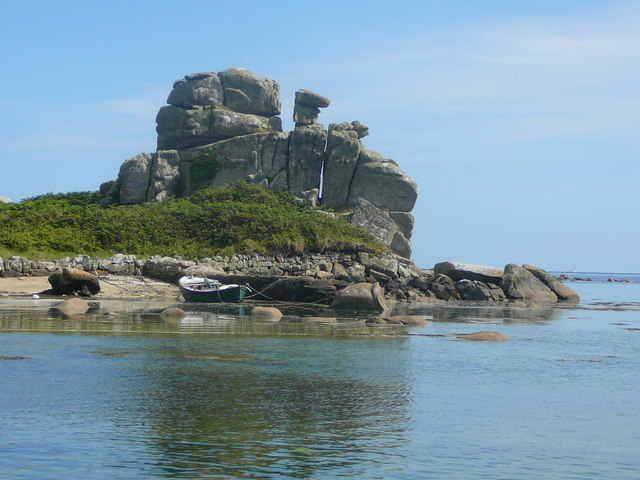 'The Loaded Camel' at Porth Hellick, St Mary's
