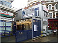 TQ3181 : Temporary ticket office, Farringdon railway station by Stacey Harris