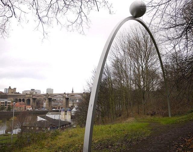 'Rolling Moon', Gateshead Riverside Park