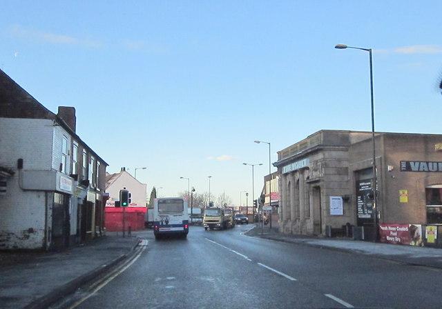 Walsall Road Darlaston Approaching Darlaston Road Junction