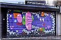 J3474 : Decorated shutter door, Belfast by Albert Bridge