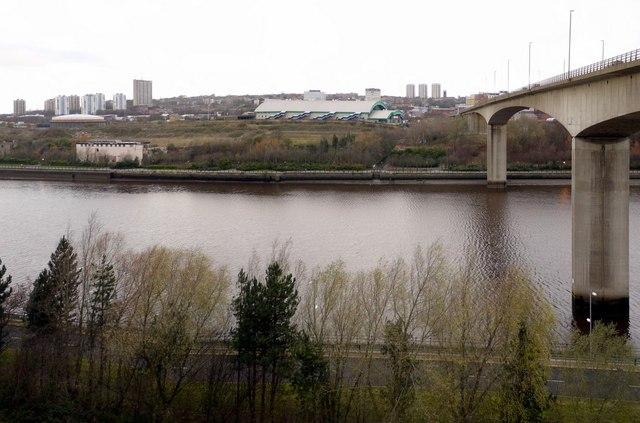 Metro Radio Arena west of Redheugh Bridge