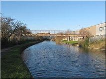 TQ2182 : Footbridge 7ba over Paddington Arm to Hythe Road Industrial Estate by David Hawgood