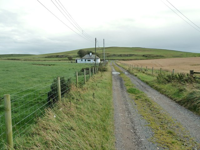 The track at Kenmuir Cottage